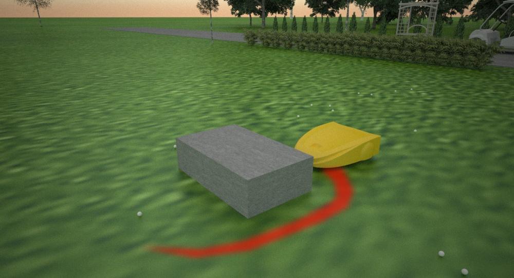 Навигация сервисного робота на поле для гольфа. Построение пути и обход препятствий - 2