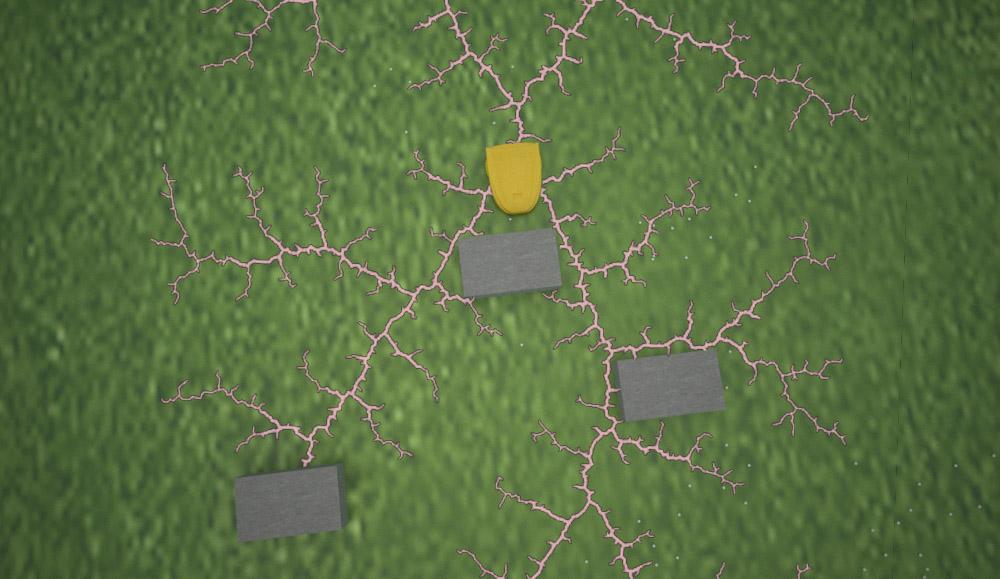 Навигация сервисного робота на поле для гольфа. Построение пути и обход препятствий - 5