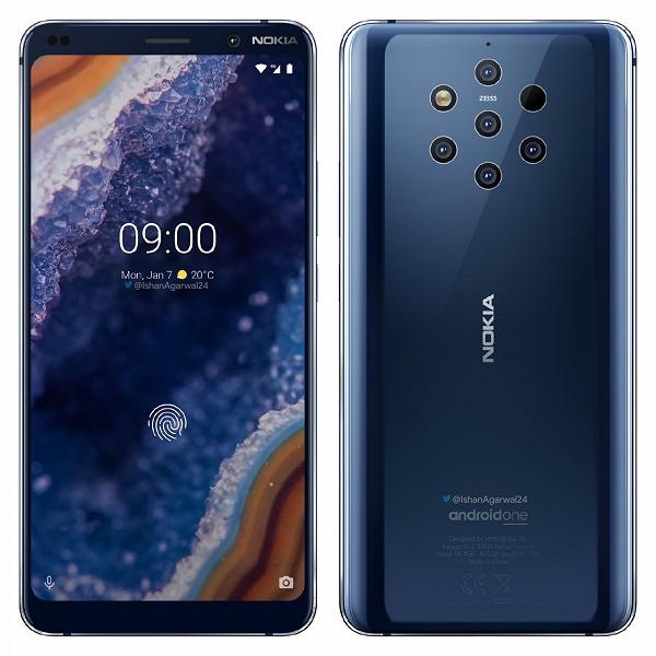 Опубликованы официальные рендеры «пентакамерного» смартфона Nokia 9 PureView в высоком разрешении