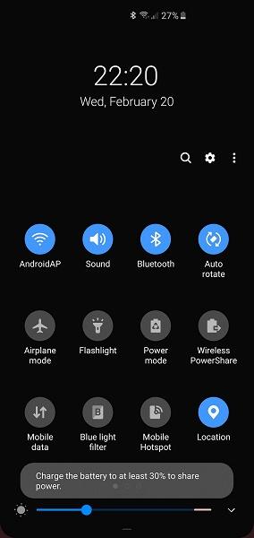 Смартфоны Samsung Galaxy S10 не будут заряжать другие устройства посредством Wireless PowerShare при низком заряде аккумулятора