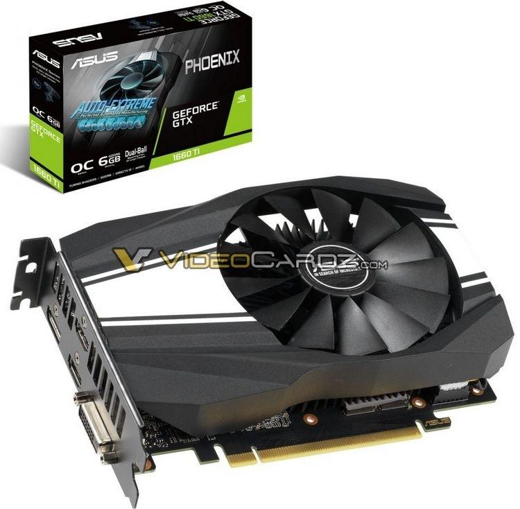 ASUS готовит видеокарты GeForce GTX 1660 Ti серий ROG Strix, Phoenix и Dual