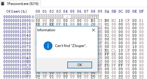 Достаём мастер-пароль из заблокированного менеджера паролей 1Password 4 - 6