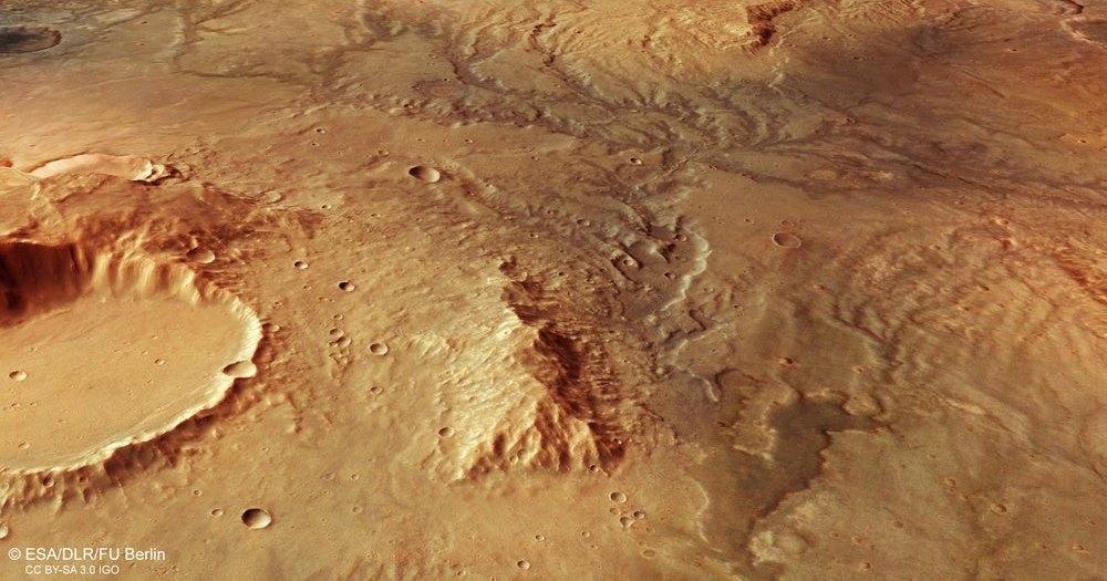 Следы от древних рек на Марсе: новые спутниковые снимки
