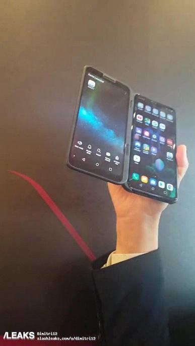 Живые фото за несколько часов до анонса. Рабочий флагманский смартфон LG V50 ThinQ с необычным вторым экраном в чехле