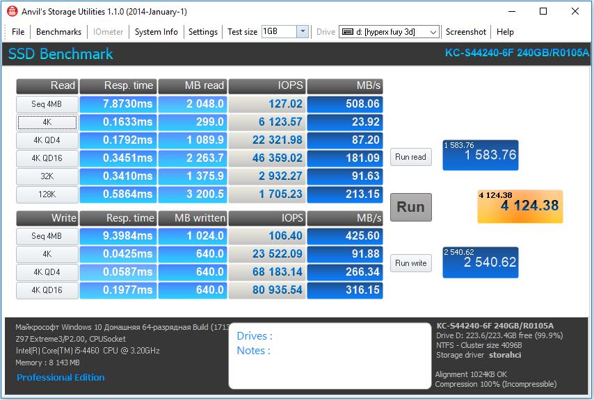 HyperX Fury 3D — SSD с понятной родословной - 16