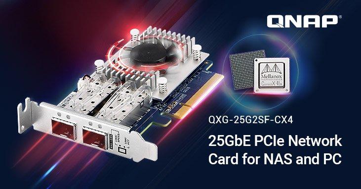 Ассортимент QNAP пополнил сетевой адаптер 25GbE для NAS и ПК