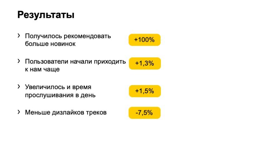 Как рекомендовать музыку, которую почти никто не слушал. Доклад Яндекса - 19