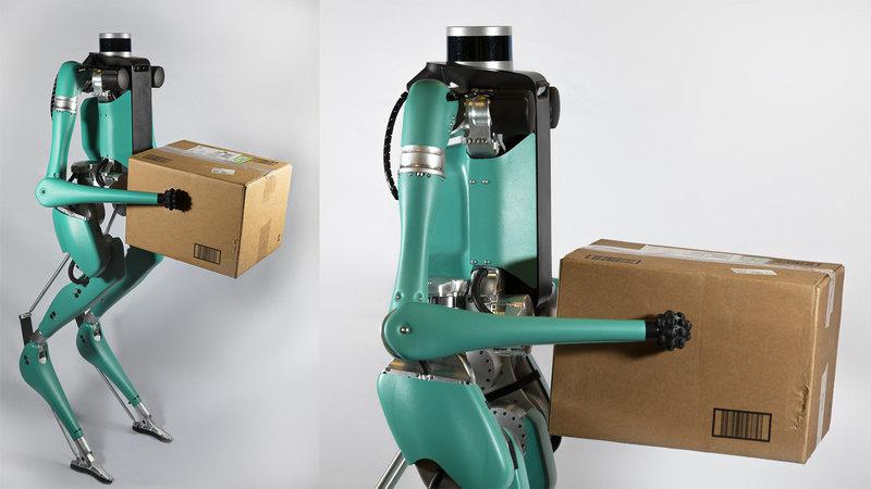 Бипедального робота-курьера оснастили руками - 2