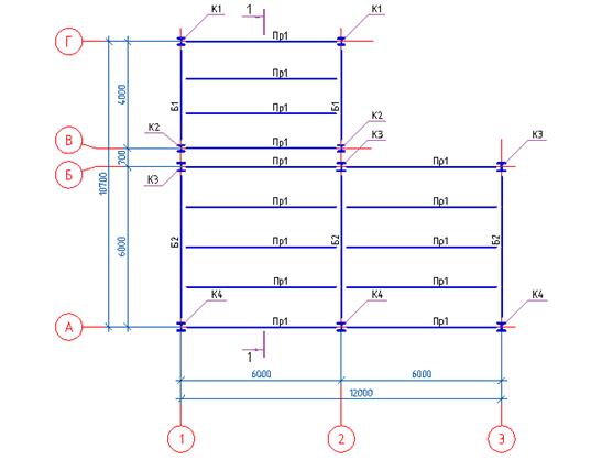 Построение металлокаркаса здания с помощью программы СПДС Металлоконструкции - 3