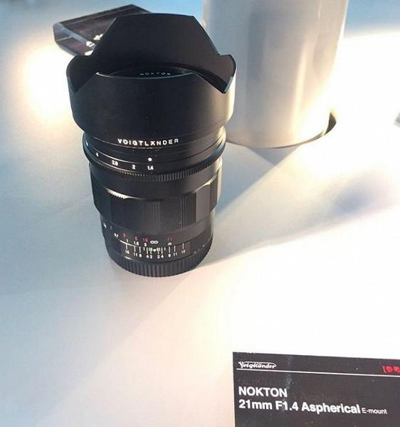 На CP+ впервые показан объектив Voigtlander Nokton 21mm F1.4 Aspherical с креплением Sony E