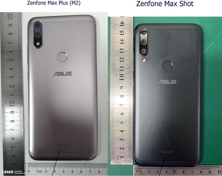 Раскрыт дизайн смартфонов ASUS Zenfone Max Plus M2 и Max Shot