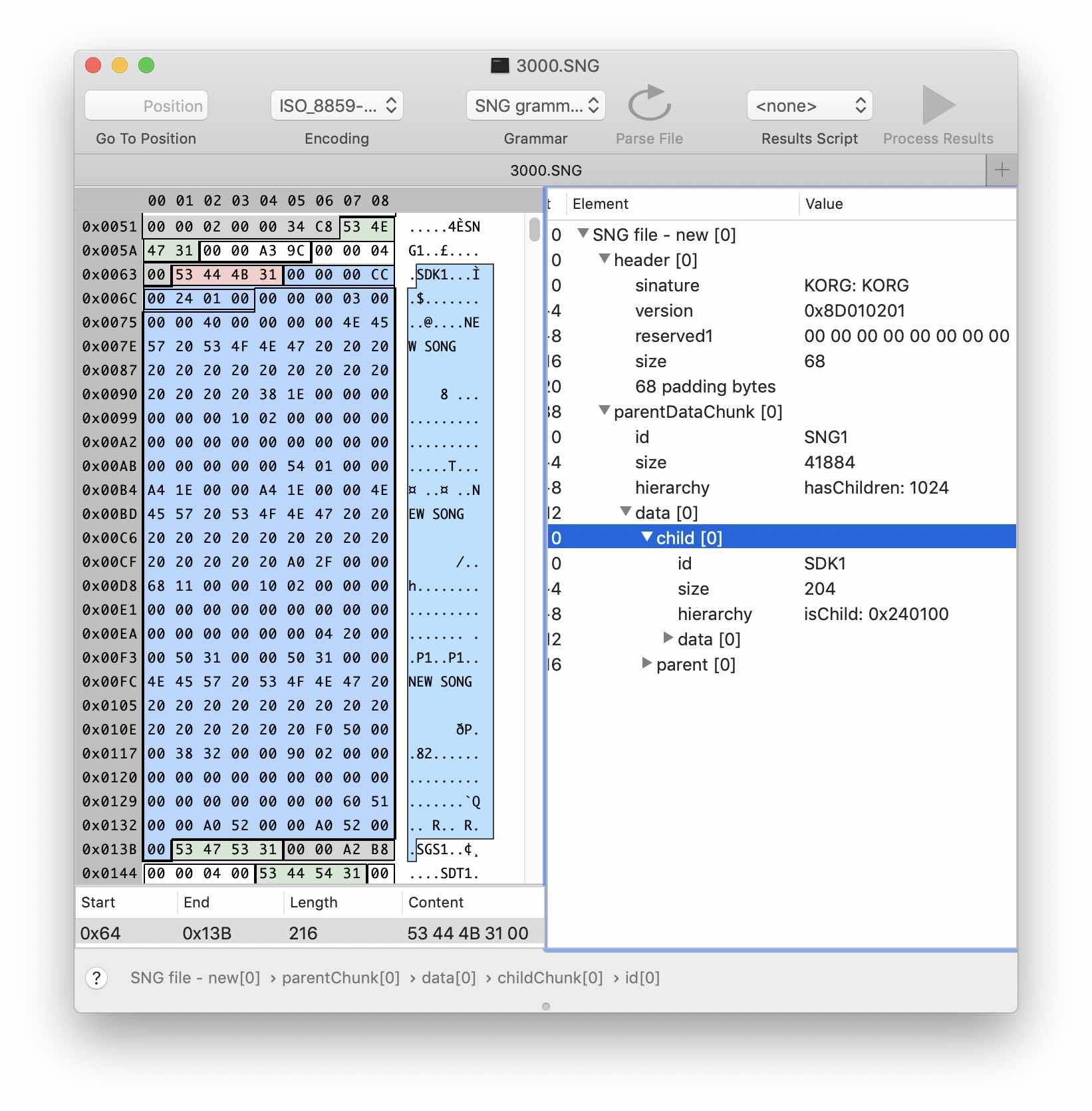 Реверс-инжиниринг бинарного формата на примере файлов Korg .SNG - 13