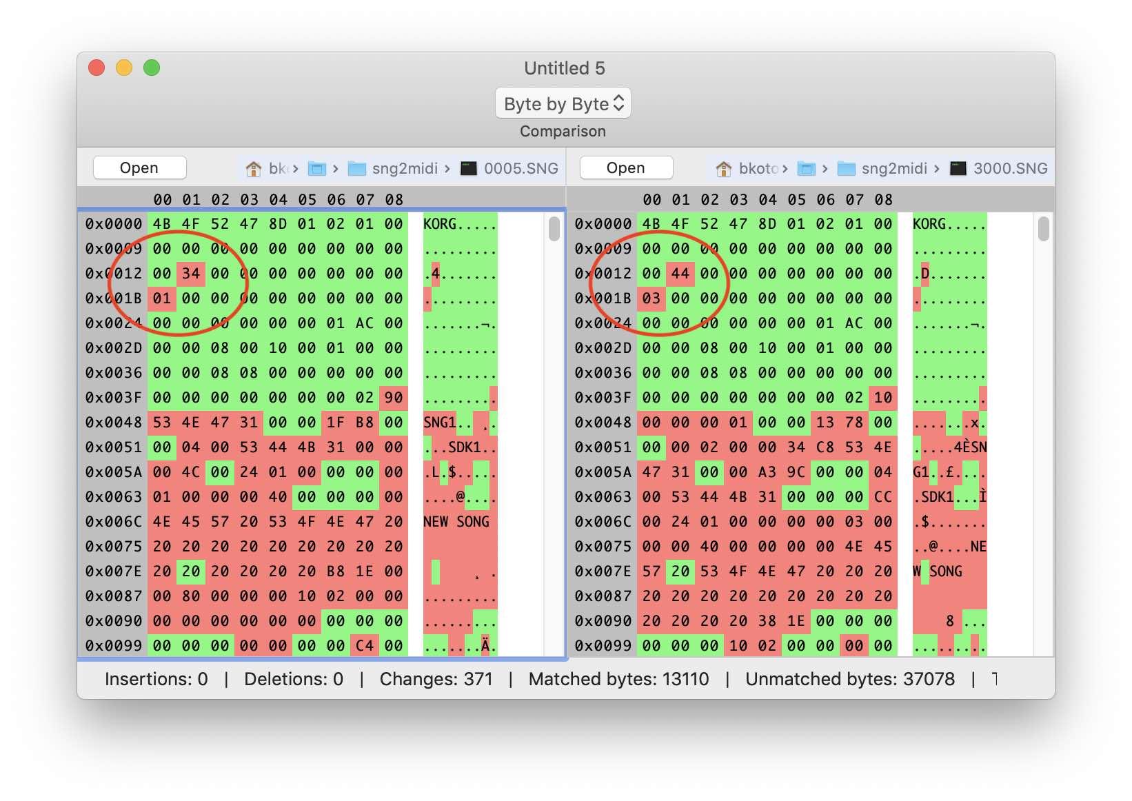 Реверс-инжиниринг бинарного формата на примере файлов Korg .SNG - 5