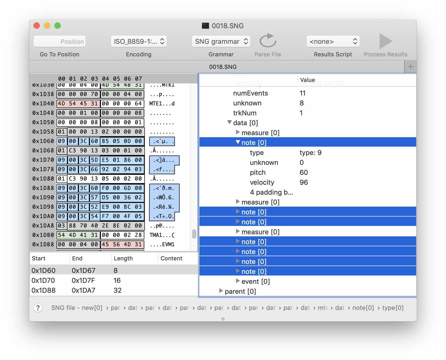 Реверс-инжиниринг бинарного формата на примере файлов Korg SNG. Часть 2 - 13