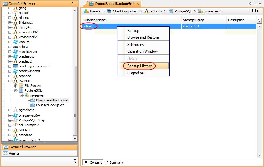 Статья про то, как CommVault делает бэкап PostgreSQL - 6