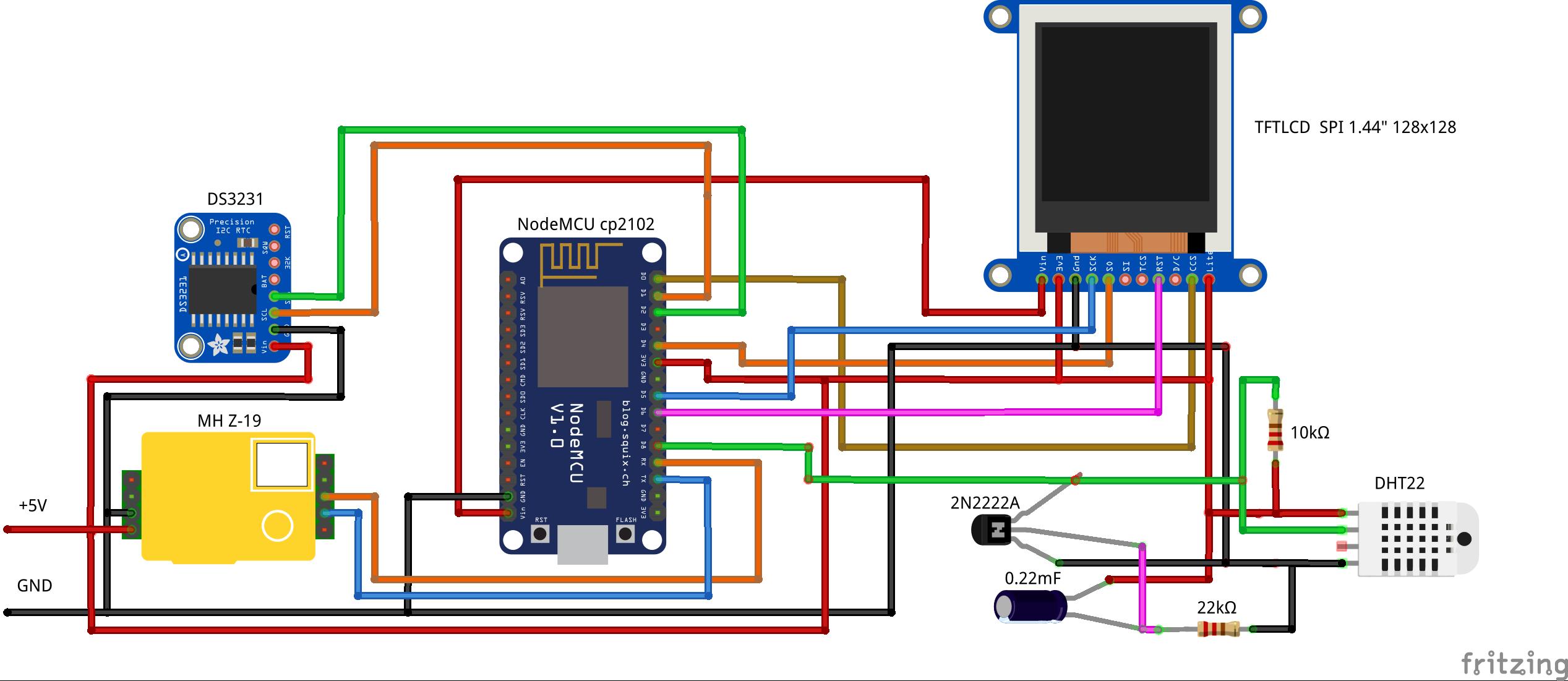 Два в одном: программируемый по Wi-Fi монитор качества воздуха и стрелочные часы - 2
