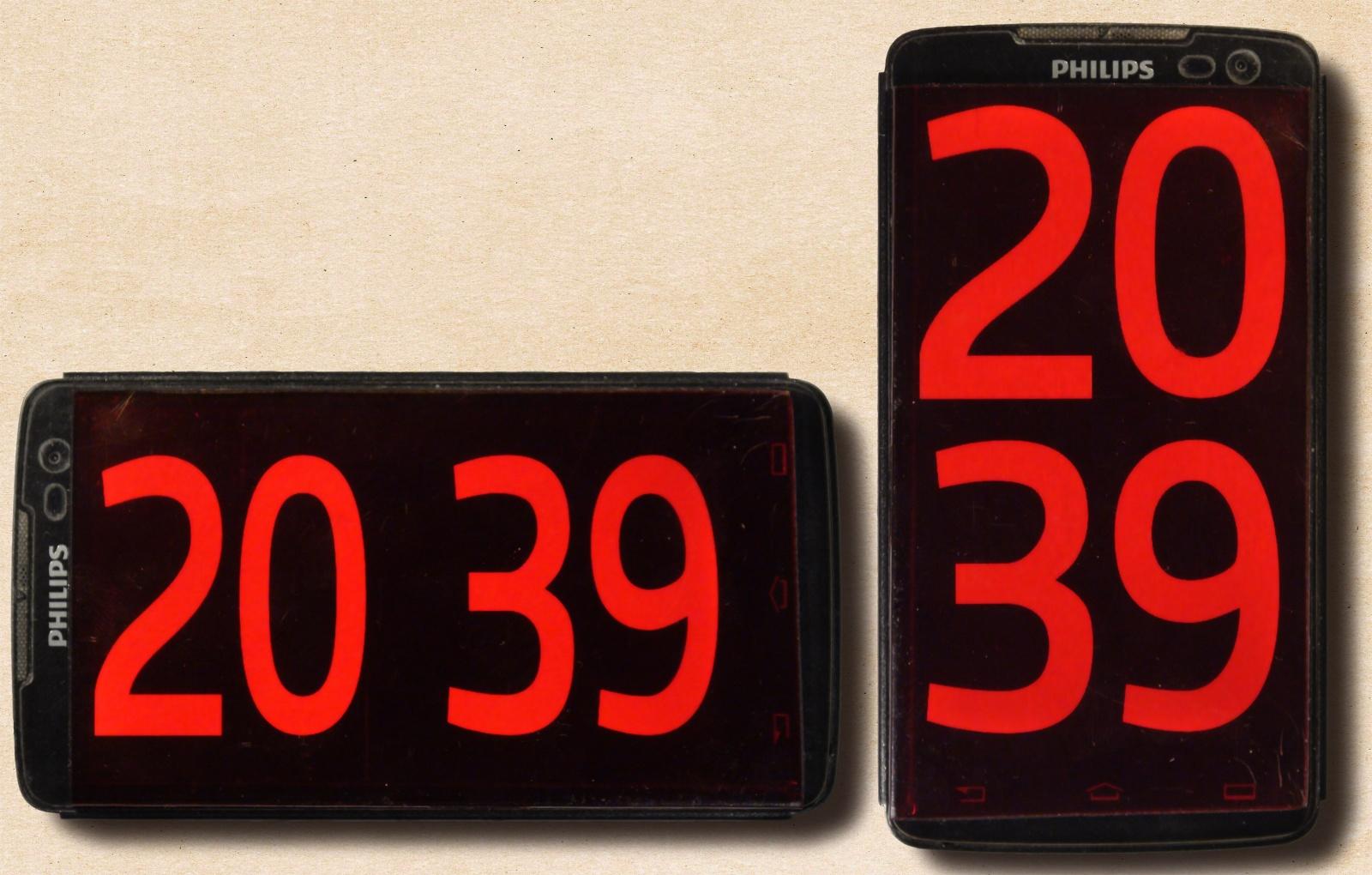 Красивые точные часы из старого смартфона - 19