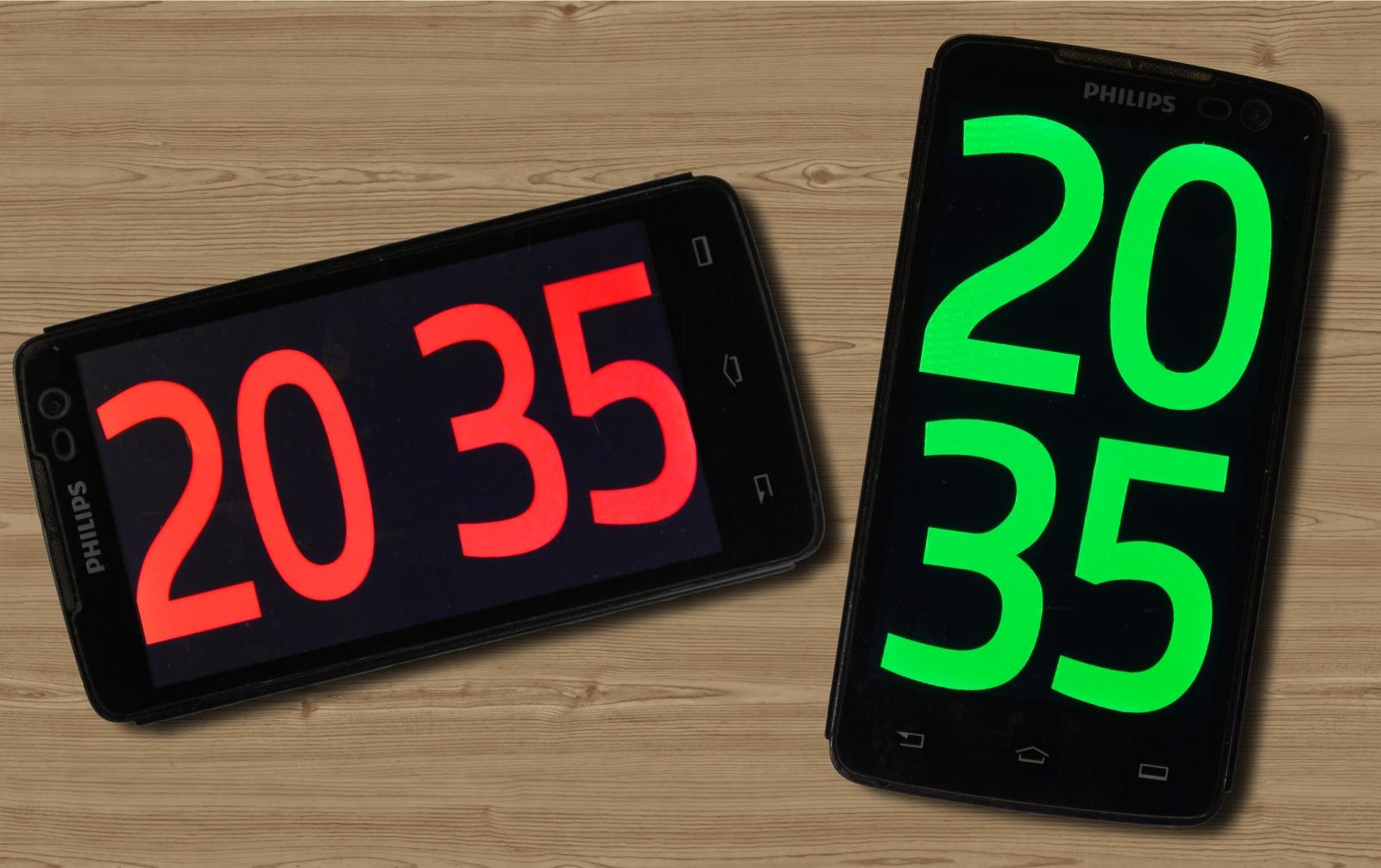 Красивые точные часы из старого смартфона - 1