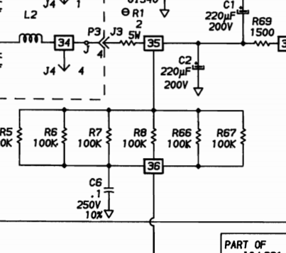 Переделка БП компьютера IBM 5150 модели А на 230 В - 6