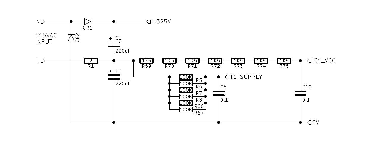 Переделка БП компьютера IBM 5150 модели А на 230 В - 7