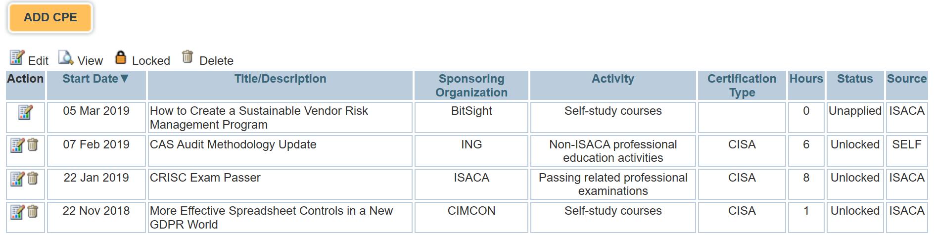 Получение CPE для поддержания профессиональных сертификаций (на примере ISACA) - 10