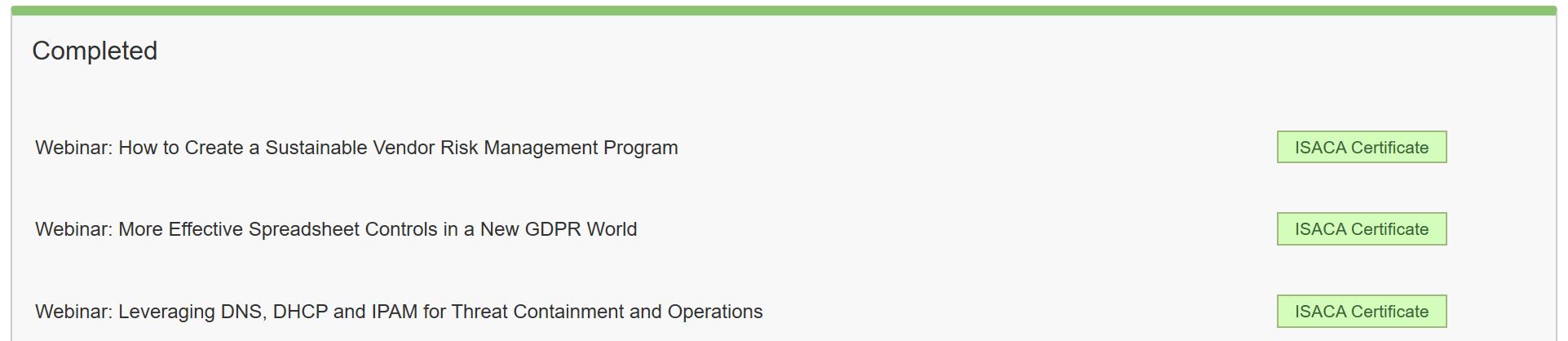 Получение CPE для поддержания профессиональных сертификаций (на примере ISACA) - 9