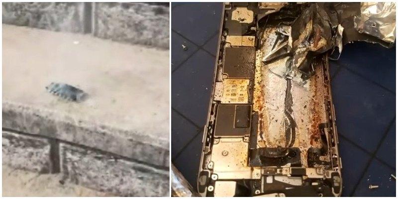 В начальной школе взорвался iPhone