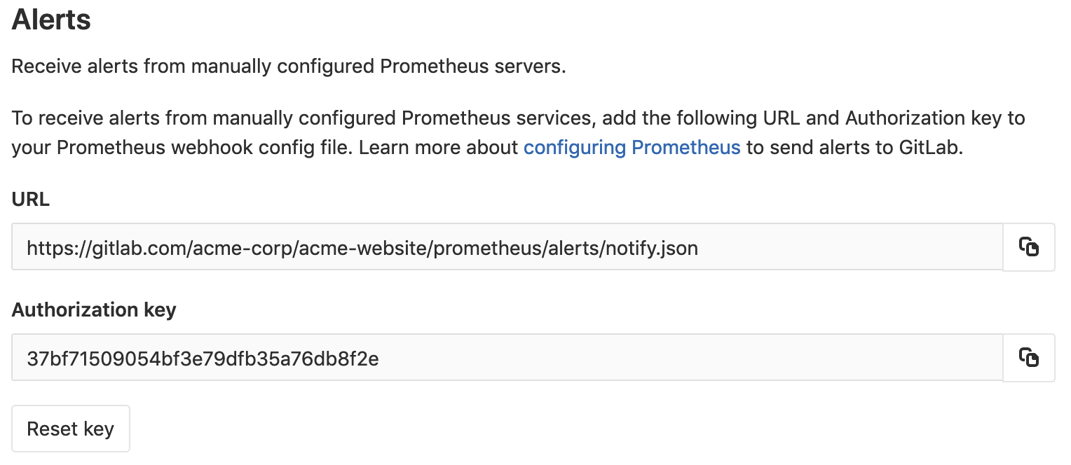 Receive alerts from manually configured Prometheus instances