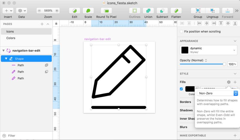 Sketch + Node.js: генерируем иконки для множества платформ и брендов. Часть 2 - 6
