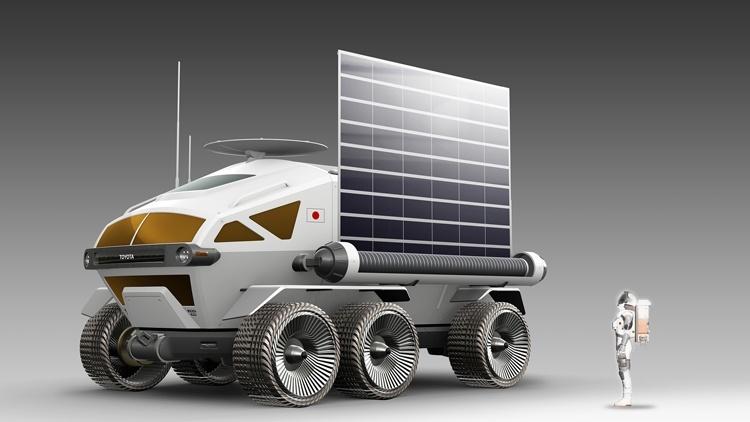 Toyota и JAXA показали концепцию пилотируемого ровера для Луны