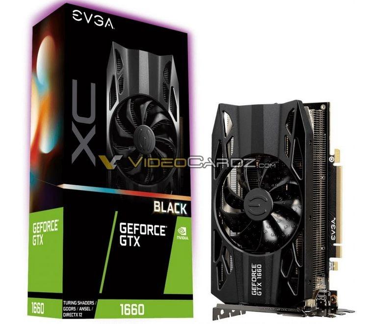 Изображения нескольких версий GeForce GTX 1660 от EVGA и GIGABYTE