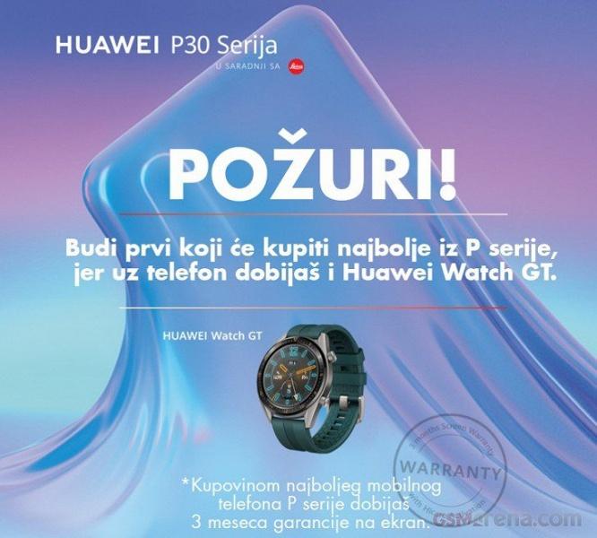 Новые умные часы Huawei Watch GT Active предлагаются за предзаказ флагманских камерофонов Huawei P30 задолго до анонса