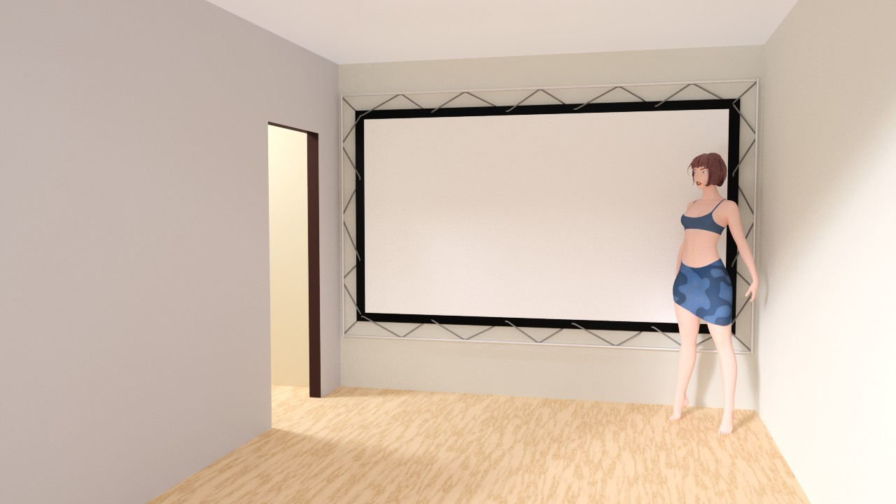 Сказ о том, как я собирал 120-дюймовый домашний кинотеатр из труб, веревок, складного экрана и черного бархата - 11