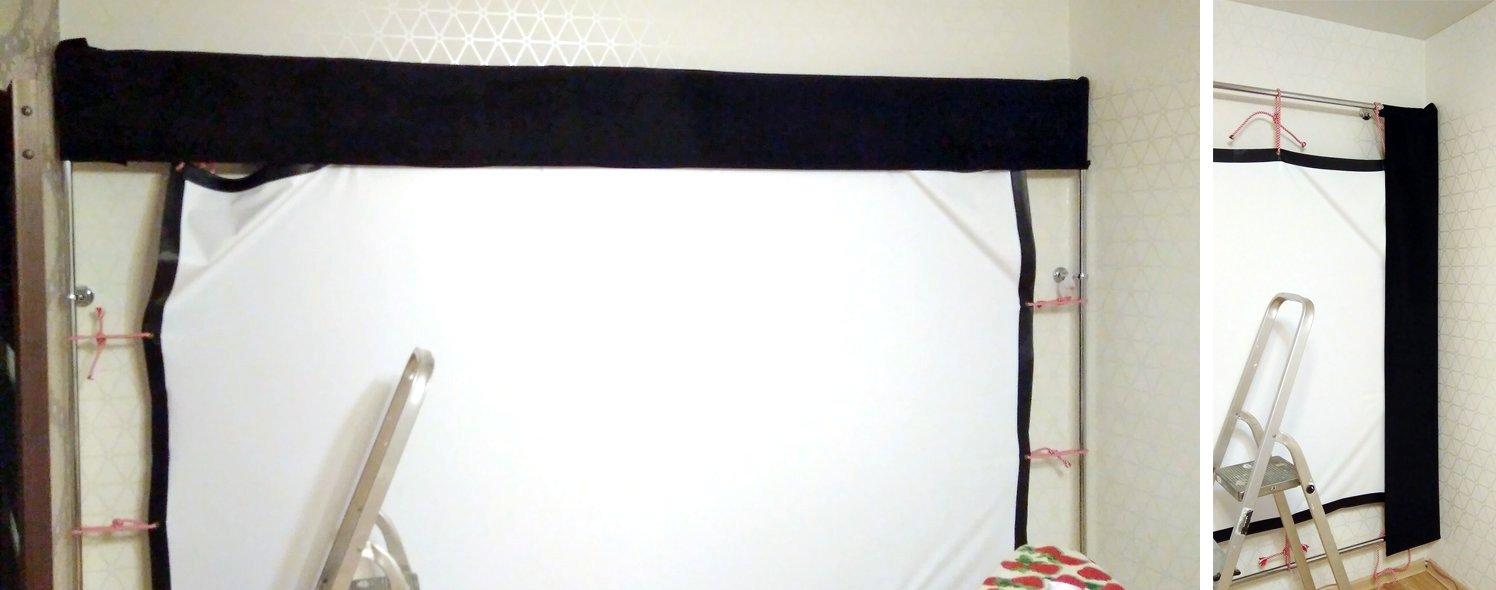 Сказ о том, как я собирал 120-дюймовый домашний кинотеатр из труб, веревок, складного экрана и черного бархата - 32