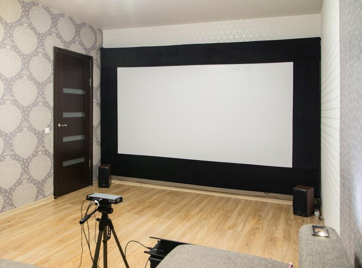 Сказ о том, как я собирал 120-дюймовый домашний кинотеатр из труб, веревок, складного экрана и черного бархата - 34