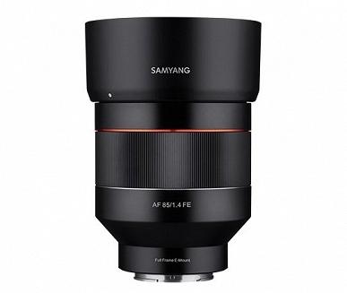 Появились изображения полнокадрового объектива Samyang AF 85mm f/1.4 с креплением Sony E