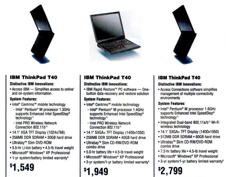 Древности: IBM ThinkPad T40, первый беспроводной - 3