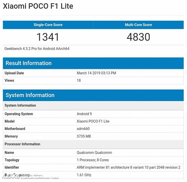 Еще дешевле. Бюджетный флагман Xiaomi Pocophone F1 выйдет в версии Lite