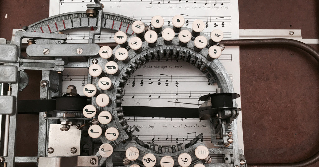 Как работает печатная машинка для нот