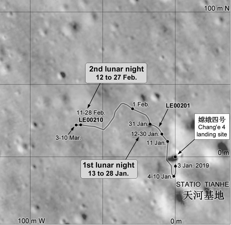Миссия «Чанъэ-4» — третий лунный день. Ровер «Юйту-2» в поисках… камней - 10