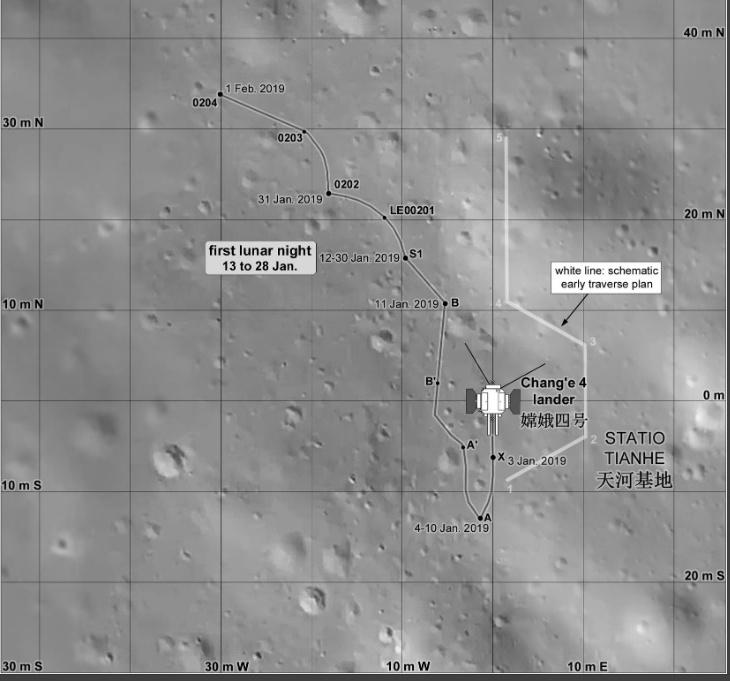 Миссия «Чанъэ-4» — третий лунный день. Ровер «Юйту-2» в поисках… камней - 8