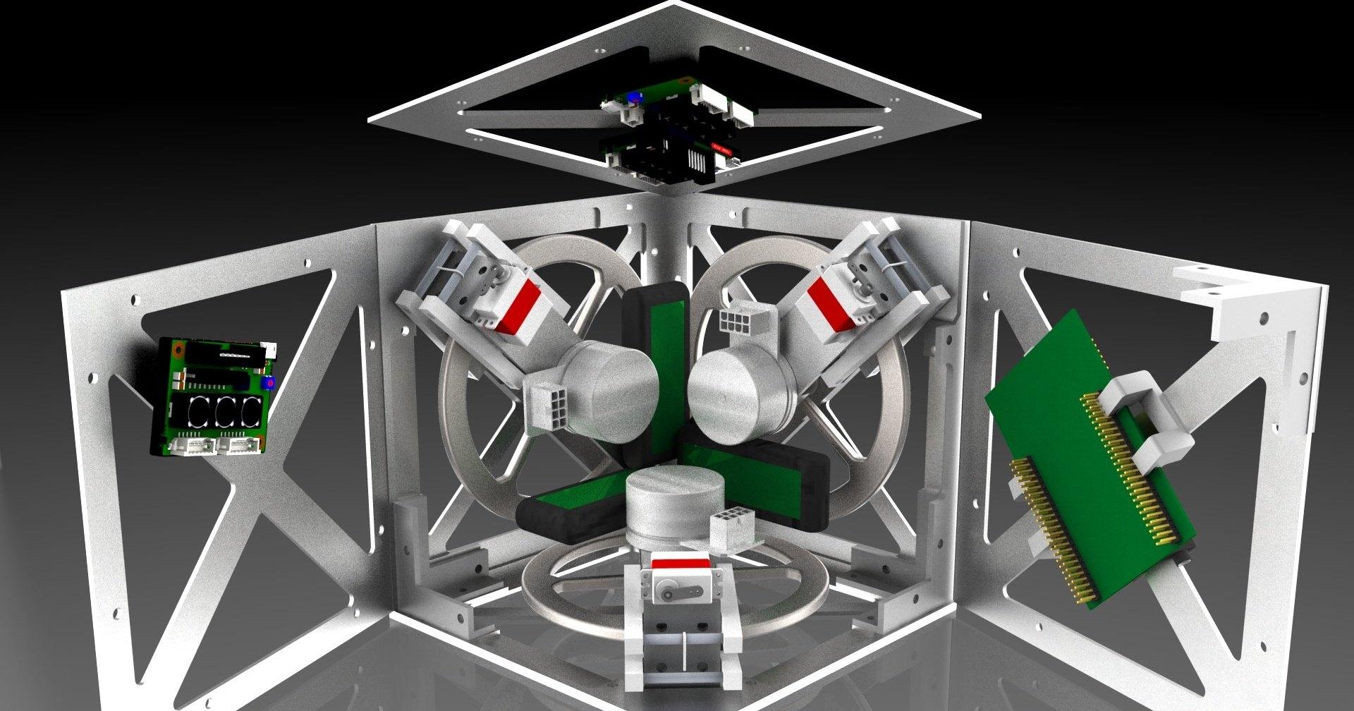 Космические технологии: как заставить куб стоять на своей грани