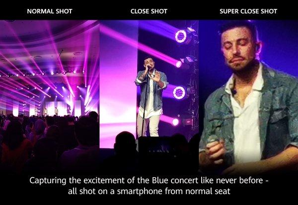 В тяжелых условиях: Huawei испытала камеру флагмана Huawei P30 Pro концертной съемкой