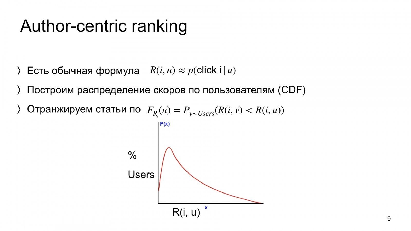 Автороцентричное ранжирование. Доклад Яндекса о поиске релевантной аудитории для авторов Дзена - 9