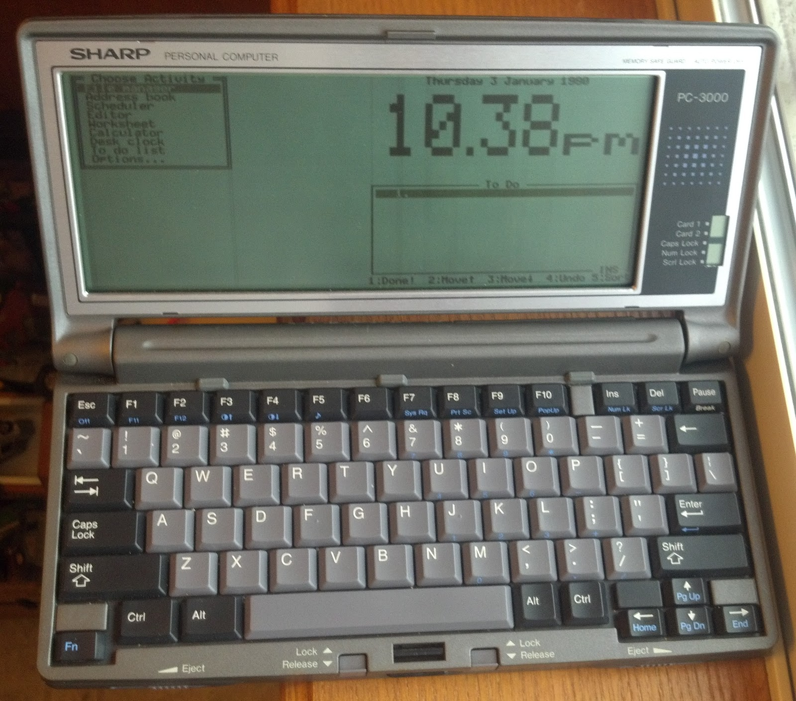 Моя первая читалка на основе Sharp PC3000 - 1