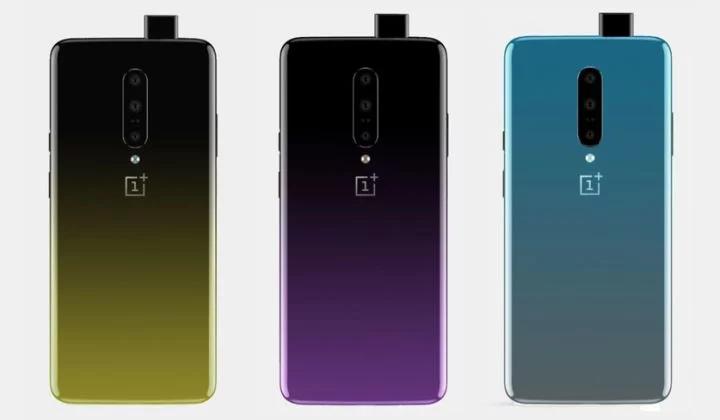 OnePlus 7 красуется в трех градиентных окрасах с камерой наготове