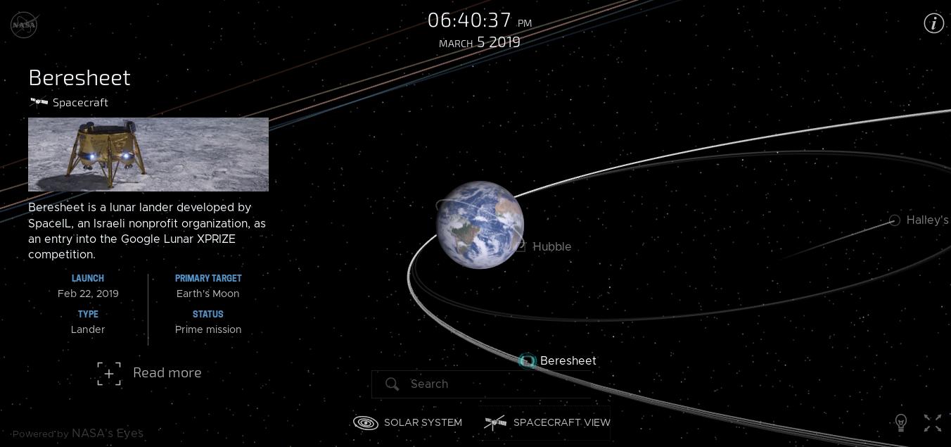 Лунная миссия «Берешит» — четвертый маневр завершен успешно, идет подготовка к выходу на Лунную орбиту - 29