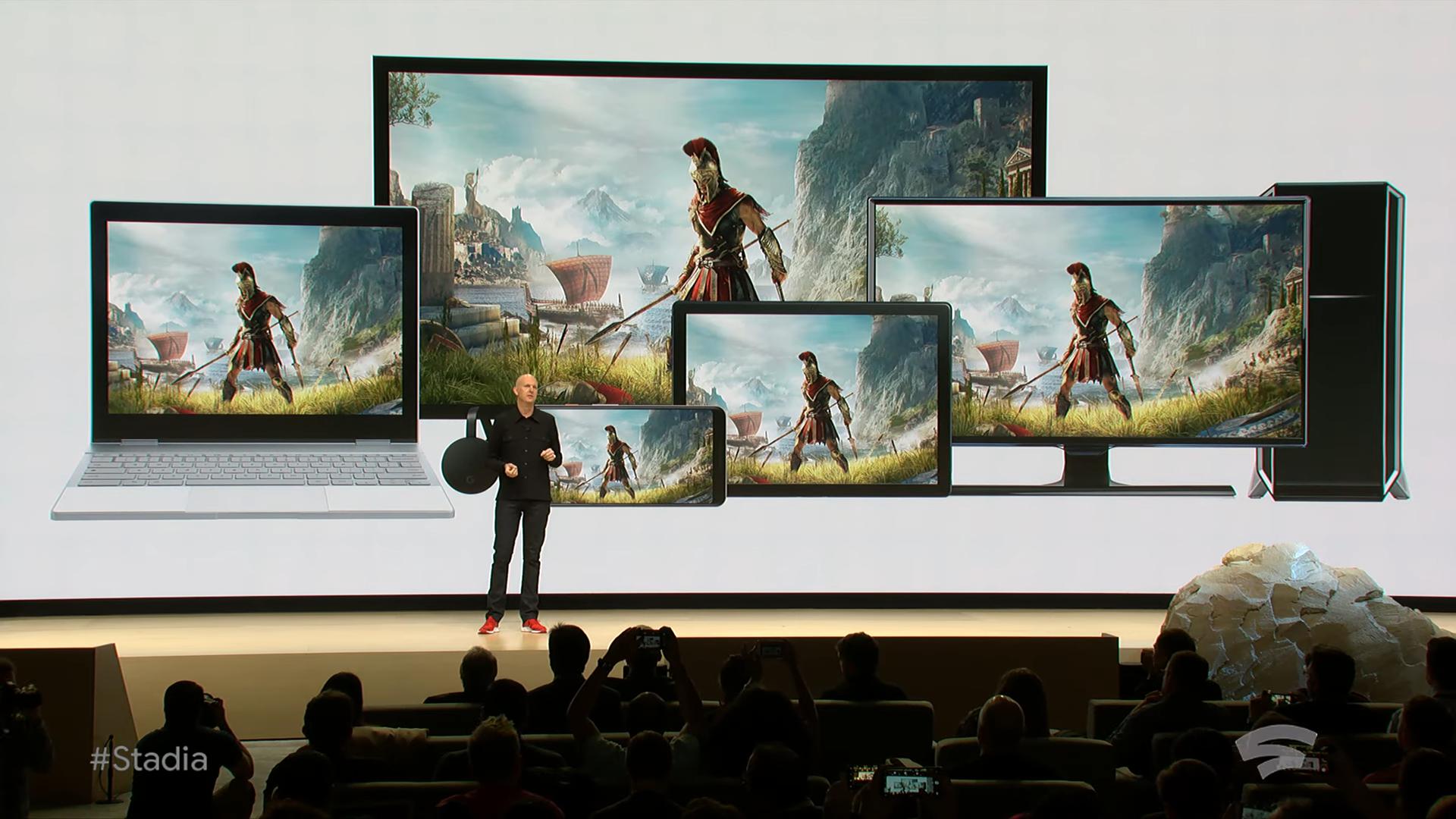 Извините, но все ваши базы принадлежат Google. Презентация Google на Game Development Conference 2019, проект Stadia - 10