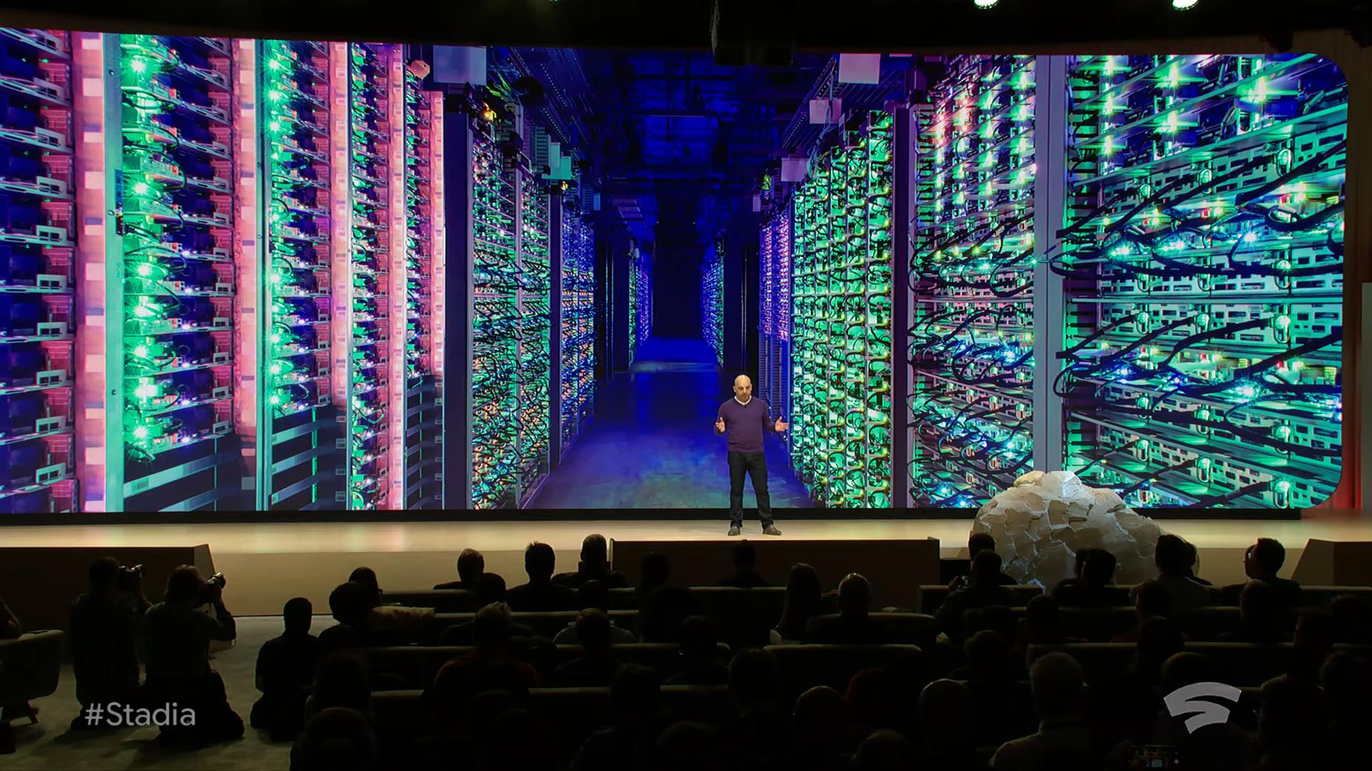 Извините, но все ваши базы принадлежат Google. Презентация Google на Game Development Conference 2019, проект Stadia - 15