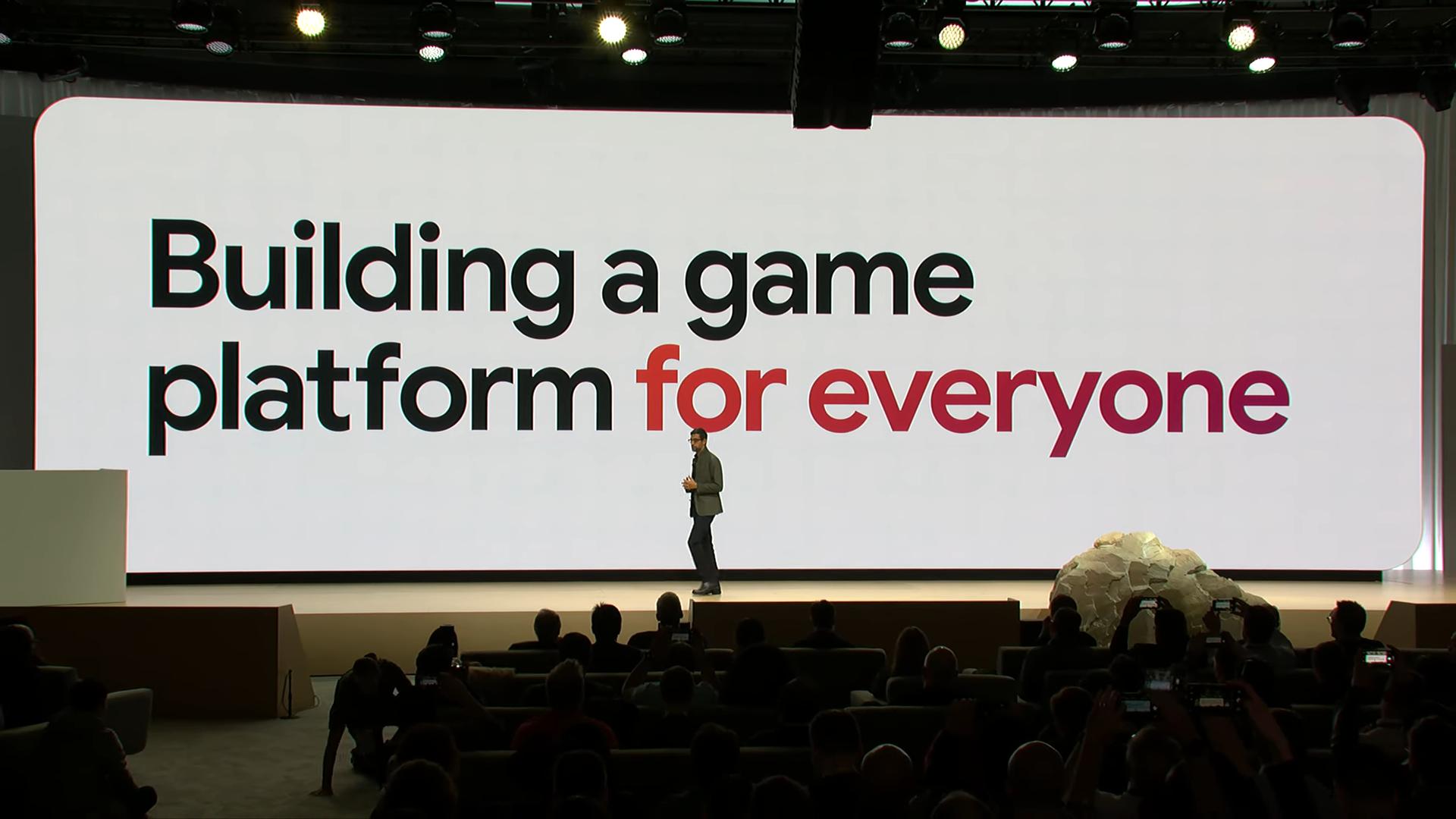 Извините, но все ваши базы принадлежат Google. Презентация Google на Game Development Conference 2019, проект Stadia - 1
